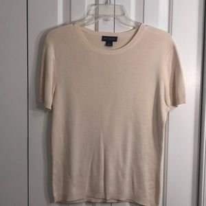 Ann Taylor 100% silk short sleeve sweater size XL